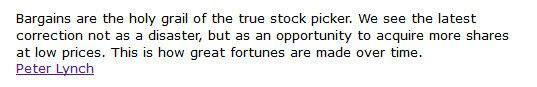 Peter Lynch Quote on Opportunity