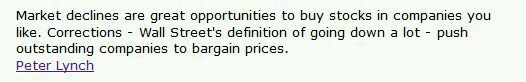 Peter Lynch Quote on Bargains